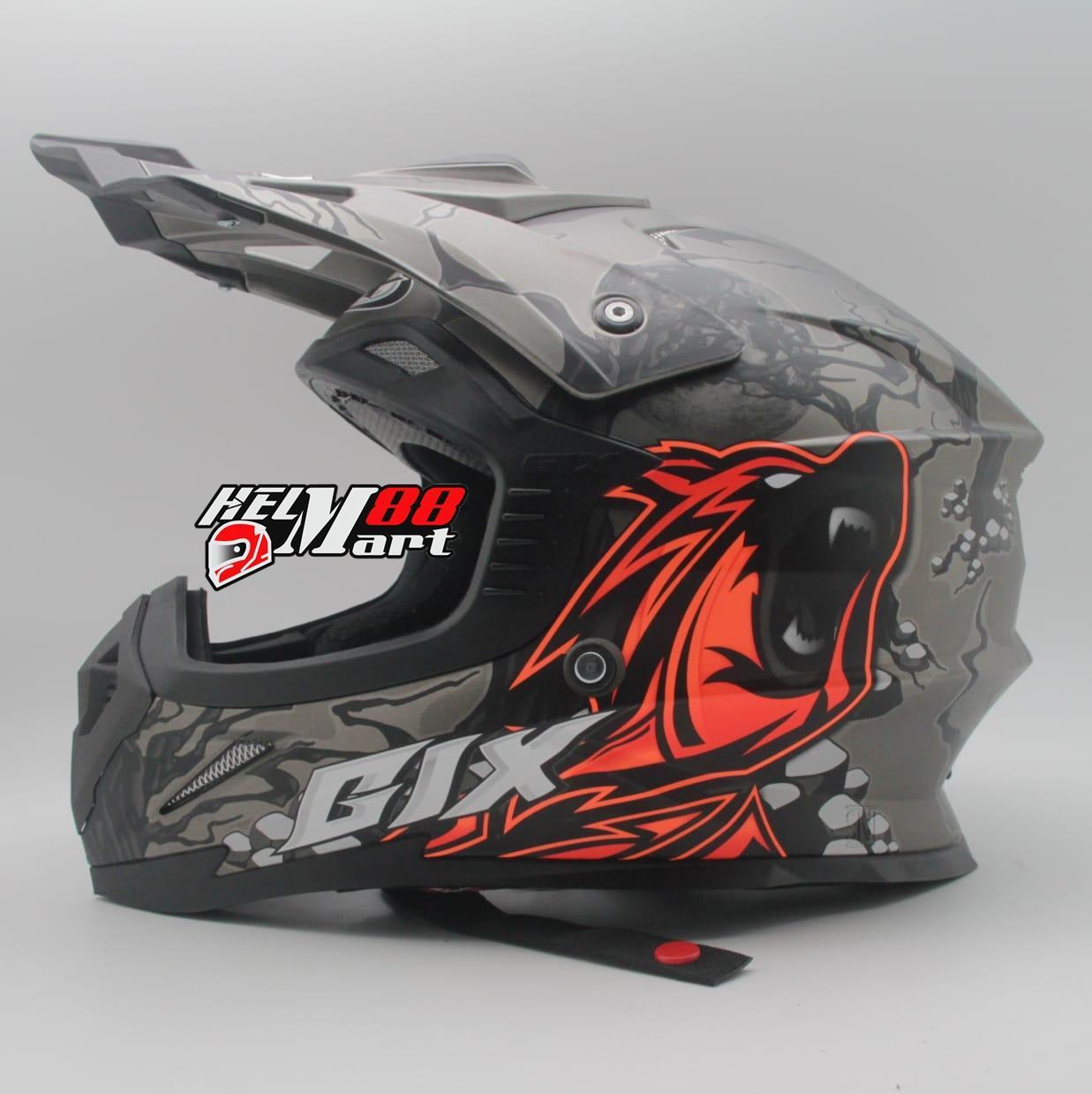 GIX Cross Wolf Gang Helm Motocross Helm Supercross