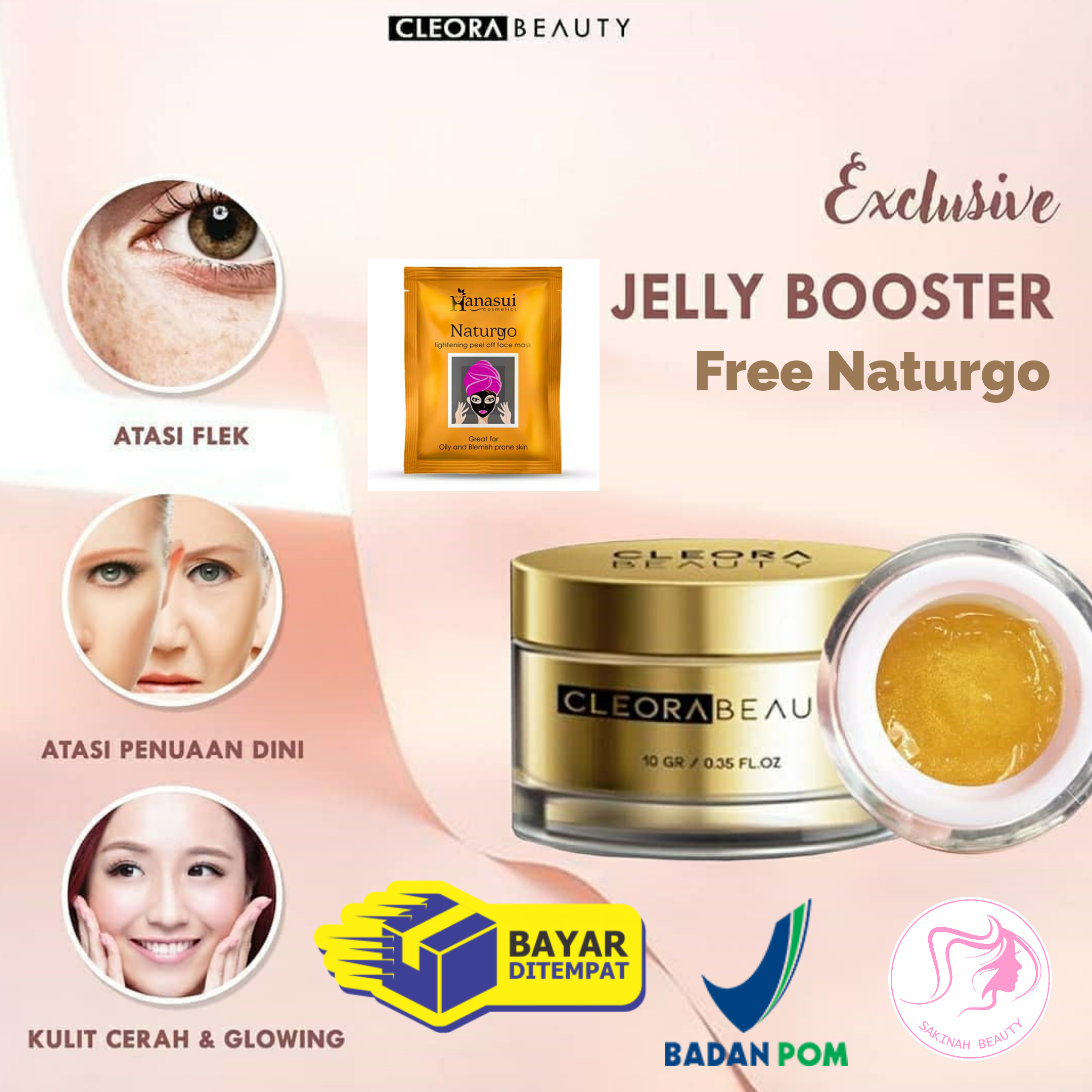 (cod ready) cleora beauty exclusive jelly booster bonus gift