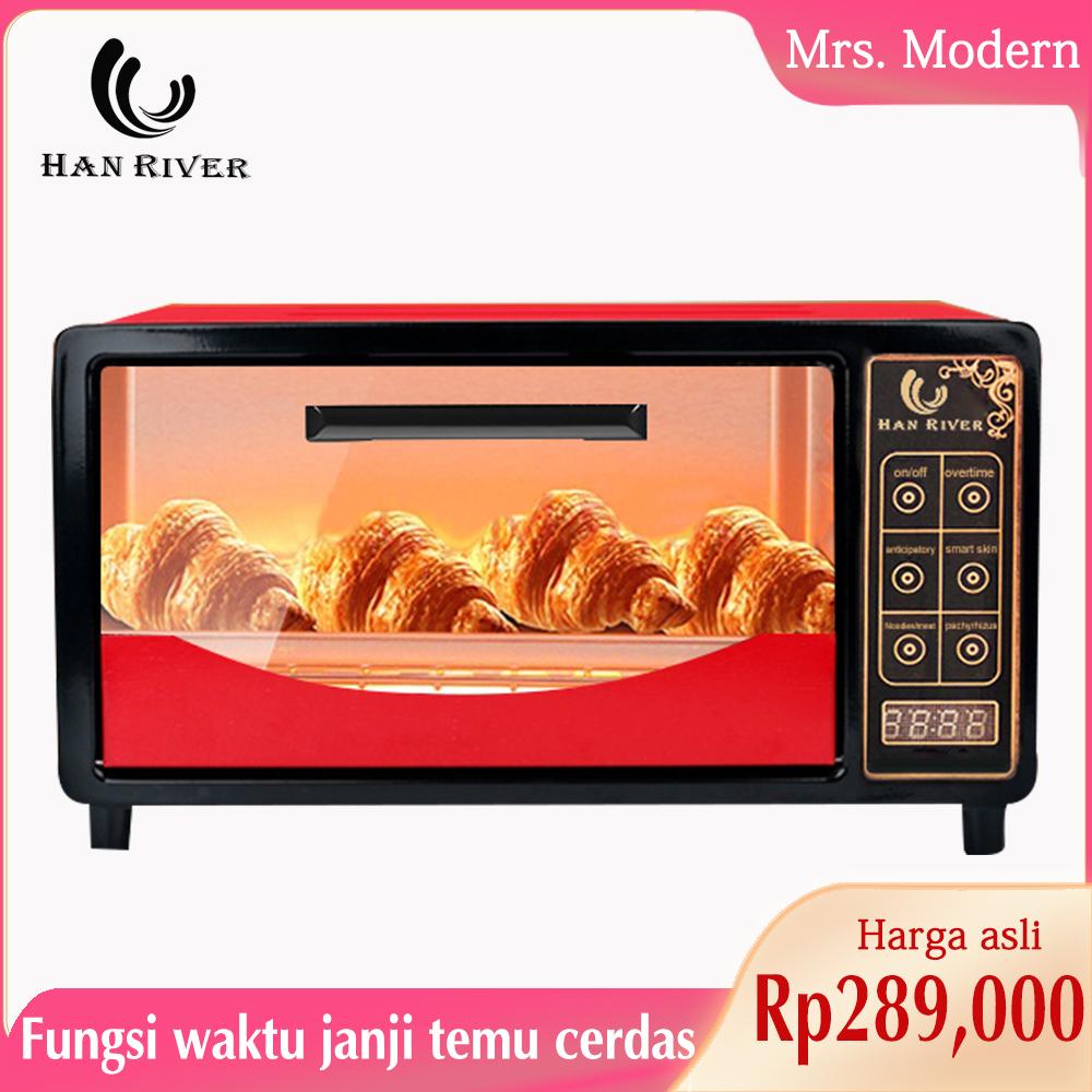 han river oven listrik layar sentuh pintar12l electric oven multi dapat memanggang kue sayap ayam-hrov002