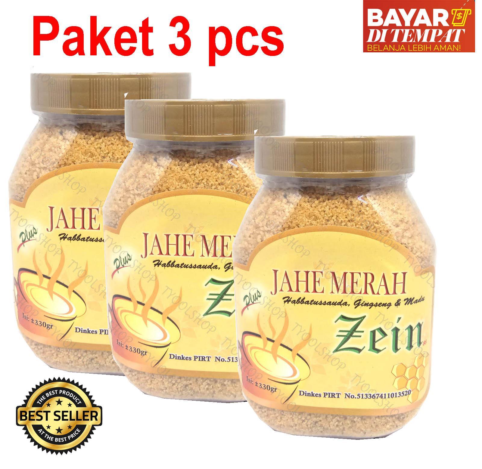 [ PAKET 3 pcs ] JAHE MERAH ZEIN plus habbatussauda madu dan ginseng - 330 gr