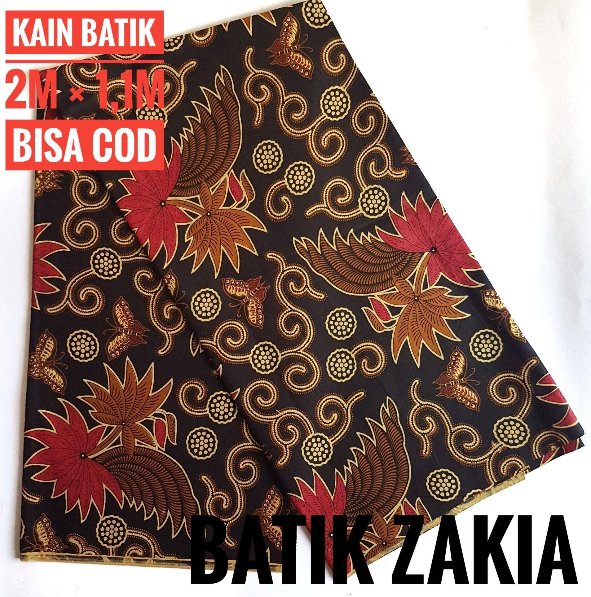 kain batik sogan kembang langit merah 52 modern panjang pekalongan solo madura