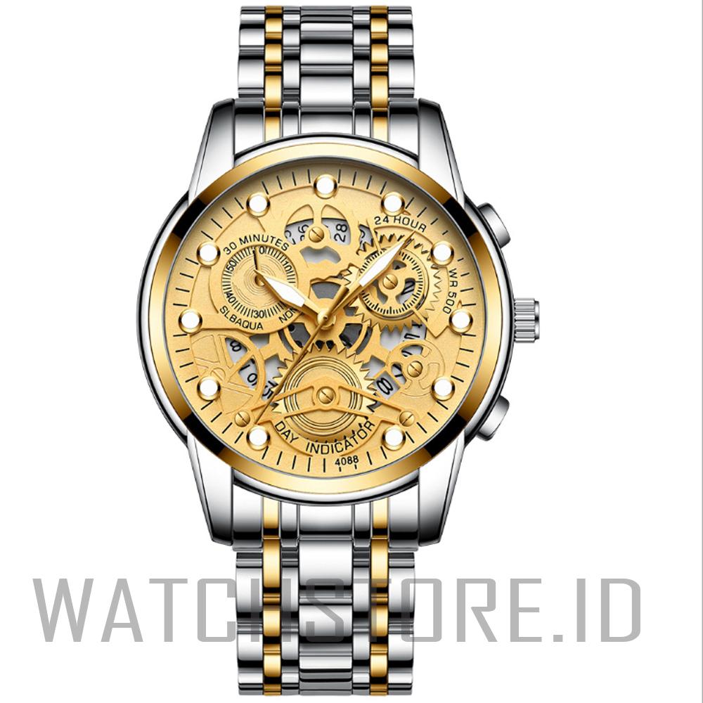 watchstore.id jam tangan pria  tahan air fngeen-c10 bahan stainlees steel jam tangan top pria mewah sport casual bisa bayar ditempat
