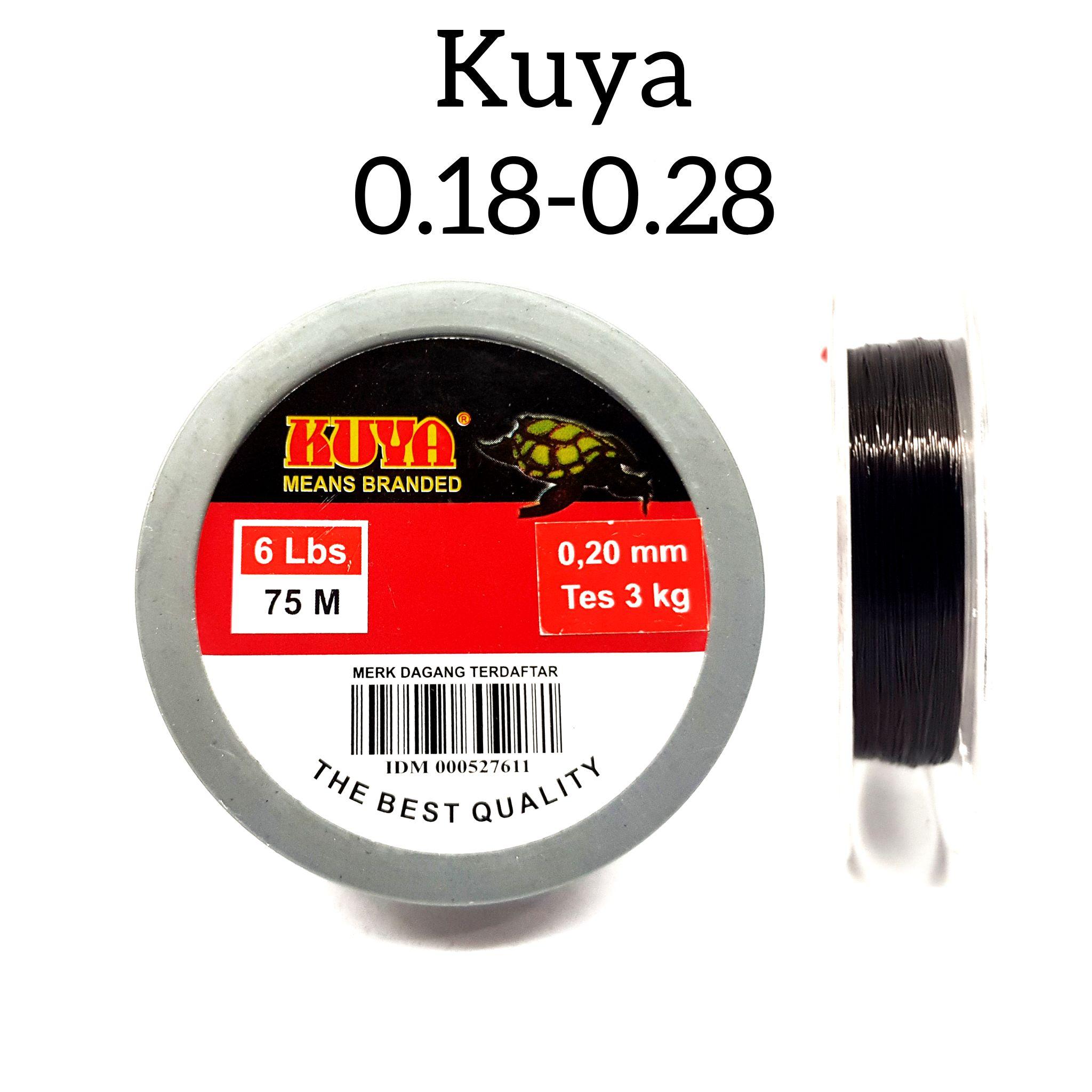 senar pancing kuya 75 meter 0.18-0.28mm