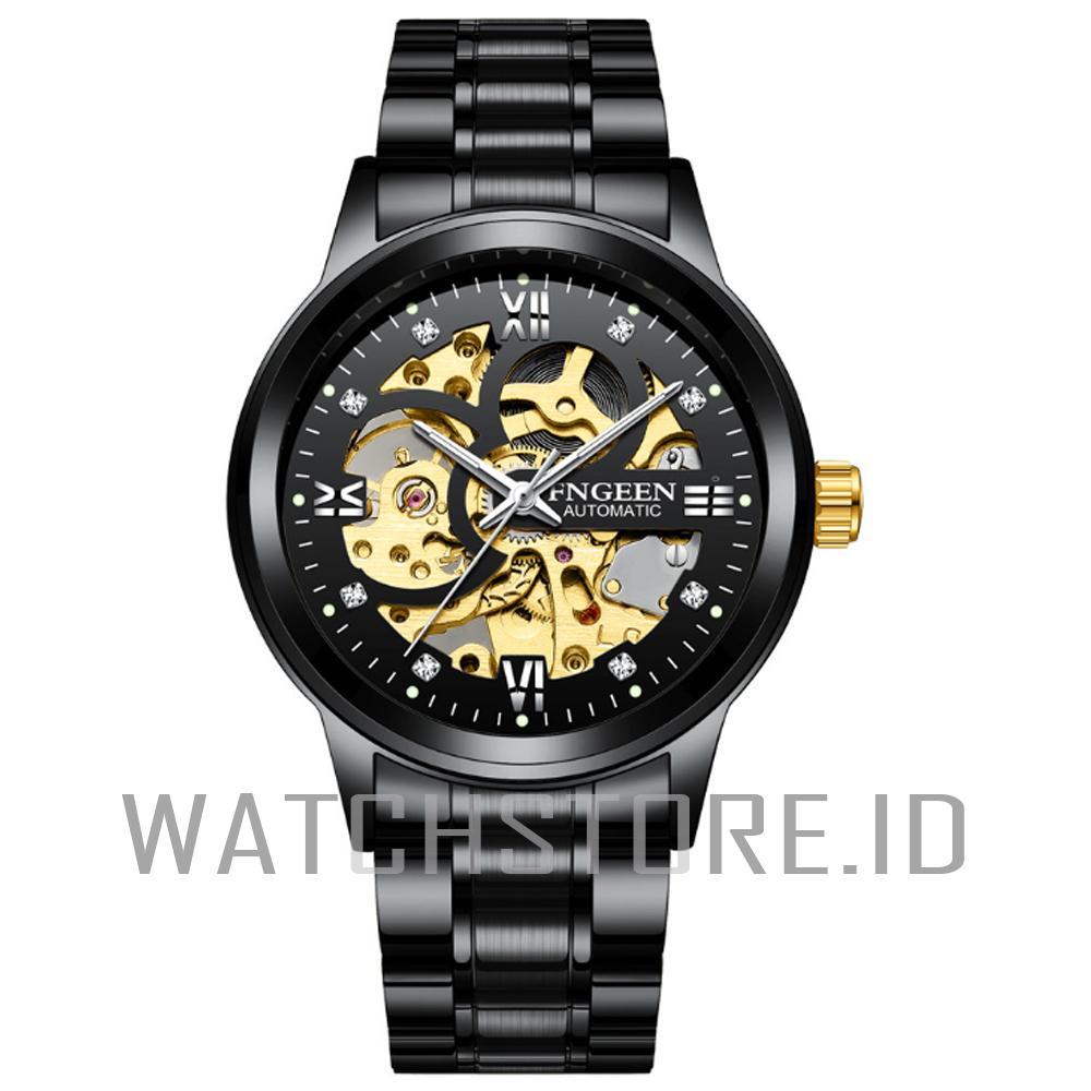 watchstore.id  jam tangan pria otomatis-c9 top pria mewah sport casual bahan stainlees steel-gesper anti air bisa bayar ditempat