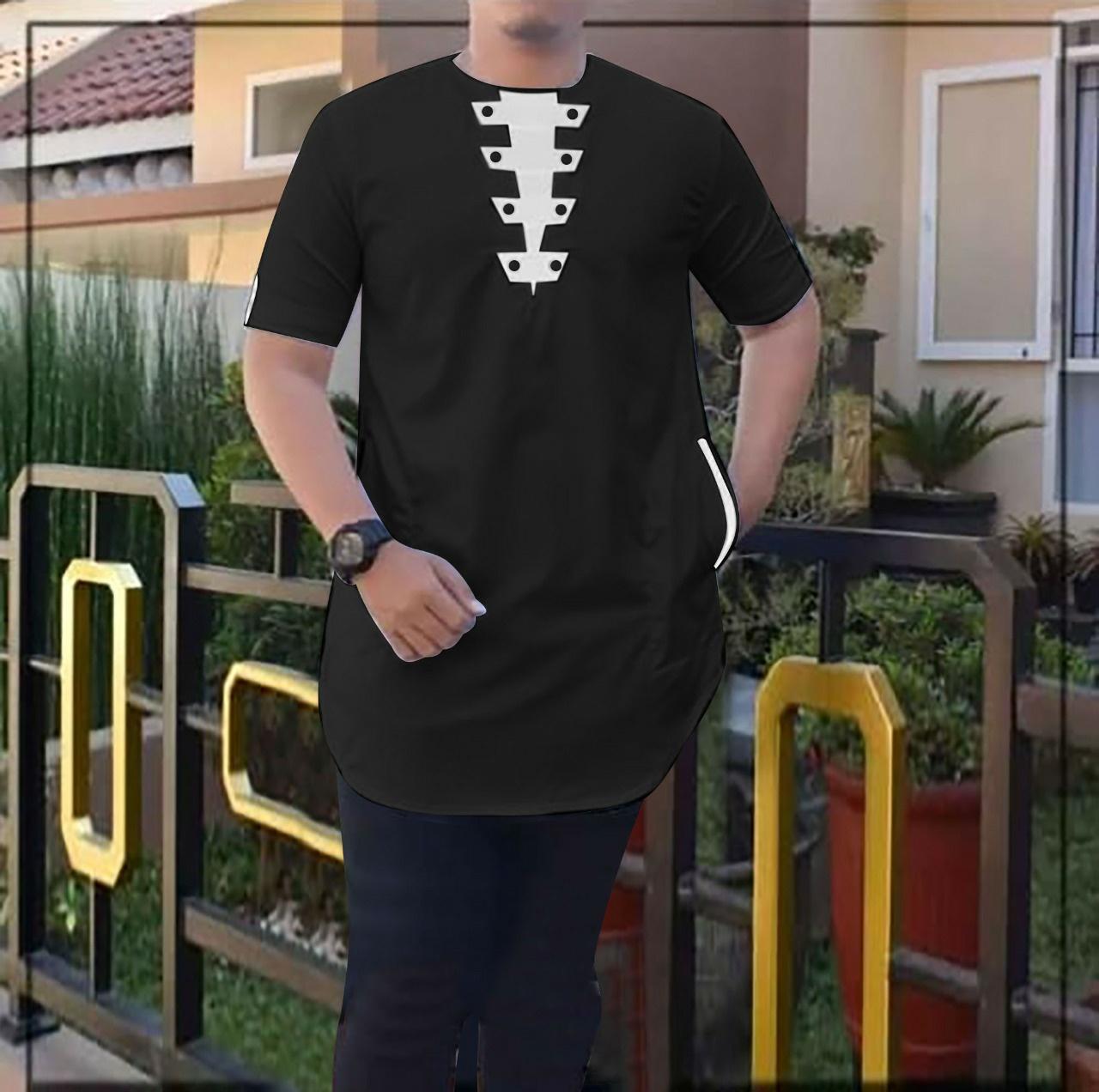 cod/baju koko pria dony/koko panjang/kokopriadewasa/bajukokomuslim