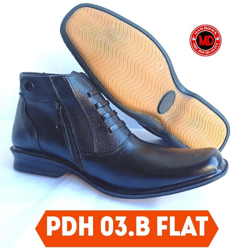 mandiens sepatu kulit asli pdh 03.b flat- sepatu pdh kulit sapi asli – pdh tni polri satpam – pantofel pria boot kulit original – sepatu kantor dinas resmi – sepatu bisnis pria
