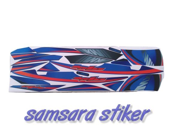 striping striping motor mio sporty mx biru merah
