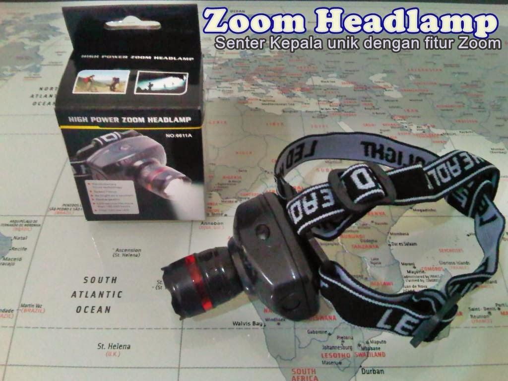 Headlamp LED / Senter Kepala High Power Zoom / Senter Gunung Murah
