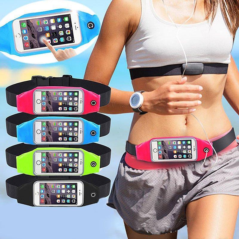 syf-shop tas jogging hp belt waterproof pinggang olahraga anti air hujan waist