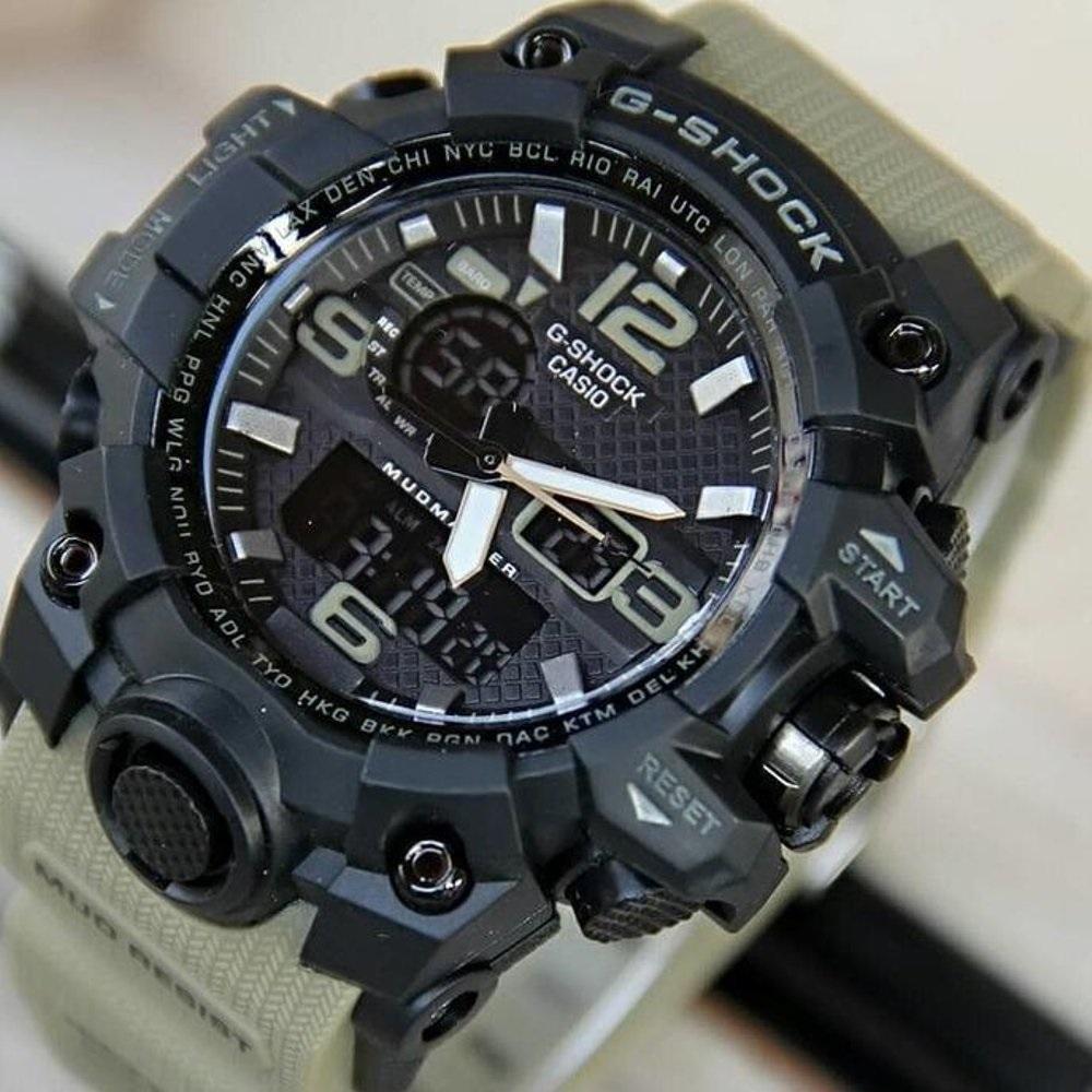 jam tangan pria fashion casio G special edition - dual time - analog dan digital -