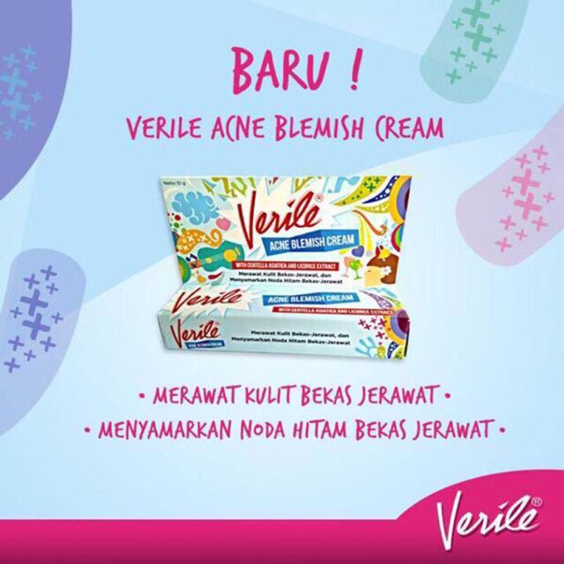 Delin Store - Verile Acne Blemish Cream 10 Gram Krim Penghilang Bekas Jerawat - 2 ...