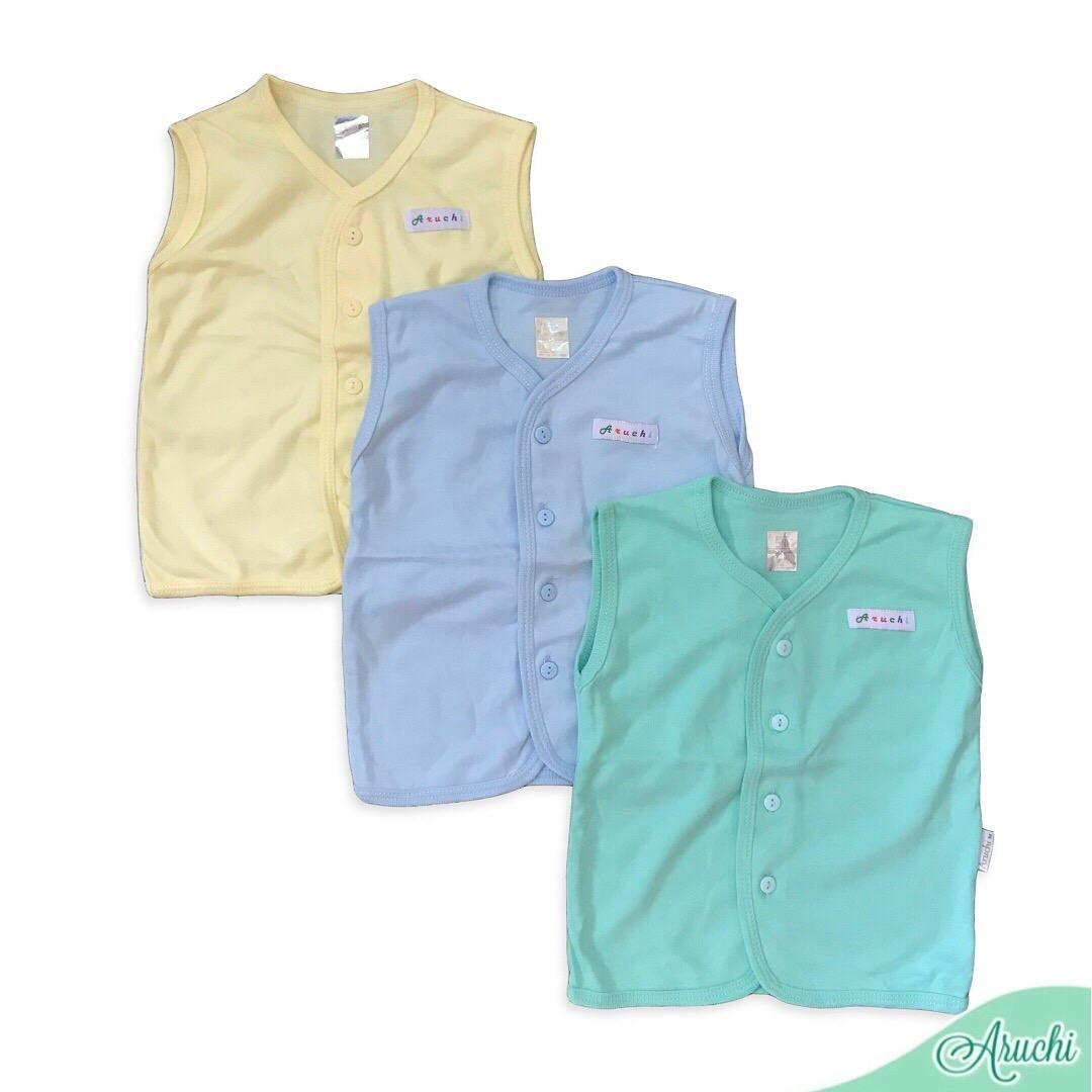 Happiness Babyshop - Aruchi Baby - (Warna Baru) Baju Atasan Kutung Polos ARUCHI Bayi