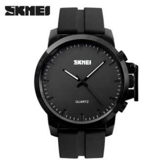 [100% Genuine] SKMEI Baru Merek Fashion Pria Jam Tangan Pria Sport Jam Kuarsa Man Leather Strap Militer Army Tahan Air Wrist Watch