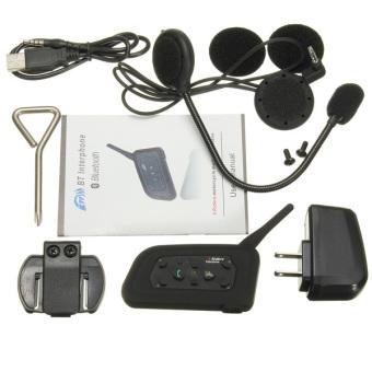 1000 M Helm Bluetooth Intercom Headset Motor Menghubungkan Upto 6 Pengendara