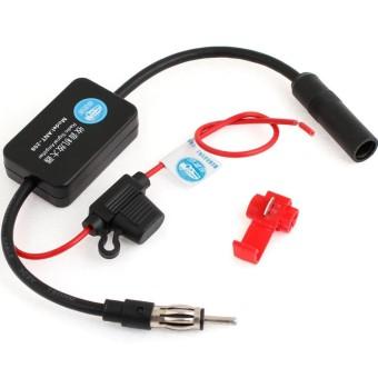 12 V Radio Mobil Sinyal Booster Amplifier Radio Antena FM AM Signalamp Amplifier Booster Memperkuat ANT