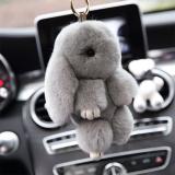 13 Cm With Bulu Kelinci Imut Kelinci Mini Keychain Pasangan Mainan Tas Boneka Kelabu - 2 ...