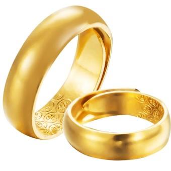 Vietnam Endapan Emas Cincin Couple berlapisan emas Bagian Buka Tutup Permukaan Halus Pria cincin emas perempuan