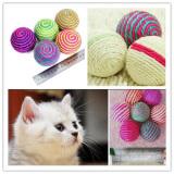 ... 1X Kucing Sisal Anyaman Tali Bola Mainan Kunyah Rattle Awal Menangkap Mainan - 4 ...
