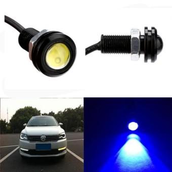 1X Putih DC12V 9 W Eagle Eye LED Daytime Running DRL Cadangan Cadangan Mobil Otomatis Lampu