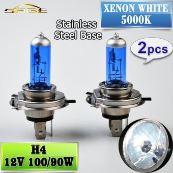 2 Pcs H4 Halogen Lampu 12 V 100/90 W Mobil Headlight Bulb 5000 K