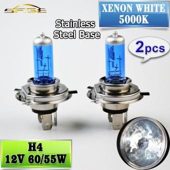 2 Pcs H4 Halogen Lampu 12 V 60/55 W Mobil Headlight Bulb 5000 K