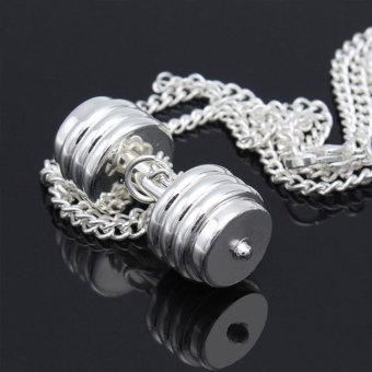 2016 Tinggi Kualitas Halter Barbel Pendant (Silver)