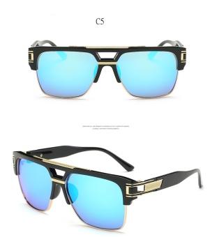 2017 Fashion Medusa Sunglasses Steampunk Pria Kacamata Matahari Vintage  Wanita Perancang Merek Bingkai Besar Drive Square a7d7fb360c