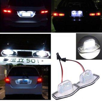 2 Buah Memimpin SMD Piring Lisensi Winx DVD Ripper Platinum Cahaya Bola Lampu Putih untuk Honda