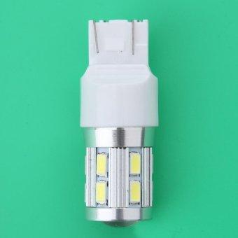 2 Pcs T20 7440 7443 12SMD + CREE 6000 K Lampu Ekor Mobil .