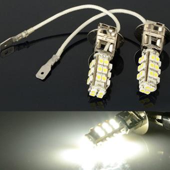 2 Pcs Xenon COOL Putih 28 3528 SMD LED H3 Kabut Bohlam Lampu .