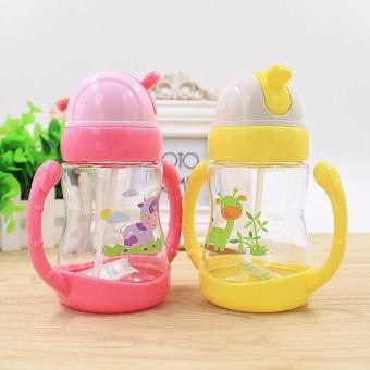 300 Ml Hewan Dicetak Baby Kids Cute Botol Anak Belajar Pelatihan Minum Feeding Botol Air dengan