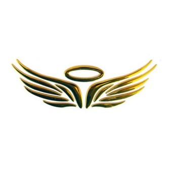 3D Malaikat Peri Wings Mobil Otomatis Truk Logo Emblem Lencana Stiker Stiker 3 Warna-Internasional
