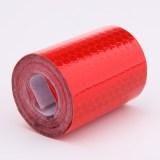 5 cm x 300 cm pita reflektif stiker mobil style untuk mobil merah .