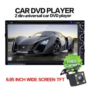 7 Double 2DIN Touch Mobil Stereo CD DVD Player Bluetooth USB SD FM TV Radio +