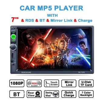 7 Inch 2 DIN Bluetooth Mirror Link Steering Wheel Control Dash HD Touch Screen Car Video Stereo Player AM /FM/RDS Radio-Intl