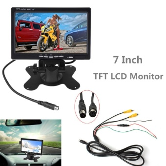 7 Inch 2CH HD 800x480 TFT- LCD Screen Car Monitor for Rear View Camera Auto