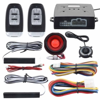 Satu Set Remote Keyless Entry & Push Start Alarm Sistem Remote Tombol Push Start-Intl