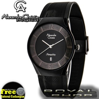 Alexandre Christie - Jam Tangan Pria - AC8331RS - Full Black - Stainless Steel -