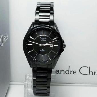 Alexandre Christie- Jam Tangan Wanita-Stainless Steel-Full Black-AC8529LFB