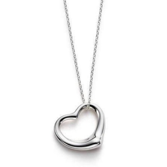Amefurashi Kalung Korea Love Silver Beauty Necklace