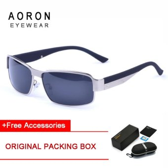 AORON Brand Merek Aoron Desainer Klasik Fashion Leisure Kacamata Polarized Sunglasses Keren Paduan Tembaga Sunglasses (