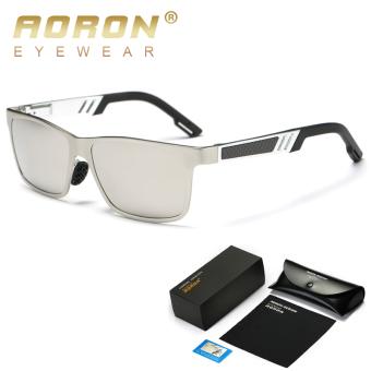 AORON Kacamata Hitam Terpolarisasi Men s Perancang Merek Klasik Leisure  Vintage Goggles Desain Bingkai Logam Kacamata Oculos ccd9d832fe