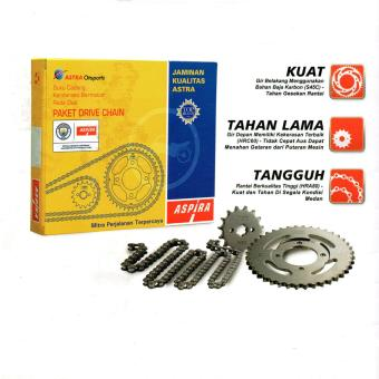 Aspira Paket Gear Set / Gir Set Dan Rantai Motor Yamaha Jupiter Z