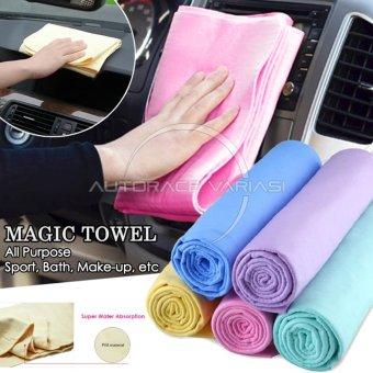 Autorace Magic Towel/Kanebo/Canebo/Lap Multifungsi/Handuk Ajaib Serbaguna KC-01 - Pink