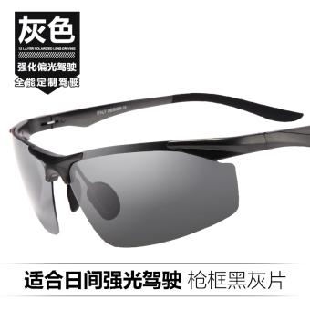 Balok Tinggi Balok Rendah Pria Terpolarisasi Kacamata Hitam Kacamata Siang  dan Malam Malam Visi Cermin Mengemudi ff2e19a144