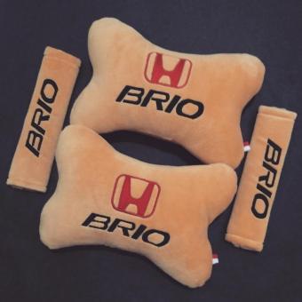 Bantal Mobil Honda Brio - 2 in 1 (2 Bantal Mobil dan 2 Cover Sabuk