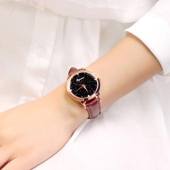 Model baru bunga anyelir Jam Tangan wanita fashion populer jam tangan wanita ikat pinggang jam tangan