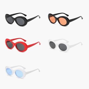 Baru Retro kecil kotak Sunglasses pria dan Women tren Sunglasses - putih Box hitam Gray