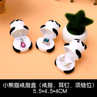 Beiheng Panda Jinjing Proposal Pernikahan Cincin Perhiasan Kotak Penyimpanan Kotak Penyimpanan