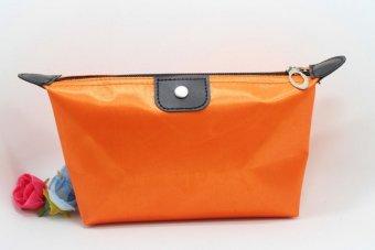 Best Tas Kosmetik Cosmetic Bag Pouch Purse Tempat Dompet Kosmetic Cosmetik - Orange